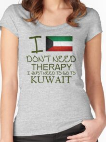 I Don't Need Therapy I Just Need To Go To Barbados Women's Fitted Scoop T-Shirt