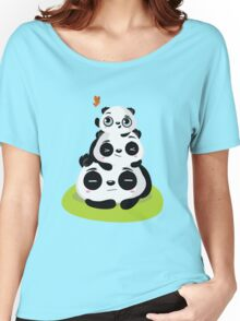 Panda pile Women's Relaxed Fit T-Shirt