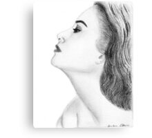 Grace Kelly drawing Canvas Print