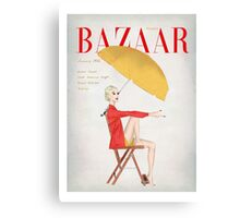 Harpers Bazaar Illustration Canvas Print