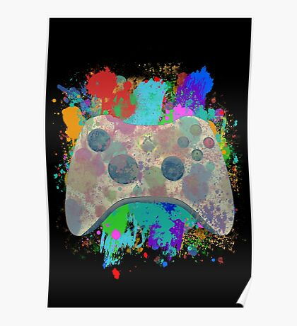 Painted Xbox 360 Controller Poster