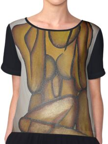 Abstract Lovers Chiffon Top
