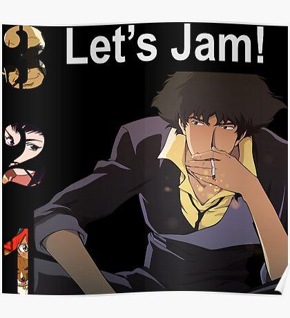 Spike Spiegel Jet Faye Edward Anime Manga Shirt Poster