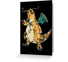 Dragonite Splatter Greeting Card