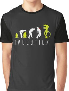 Evolution of Alien Funny Logo Graphic T-Shirt