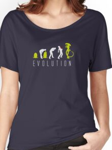 Evolution of Alien Funny Logo Women's Relaxed Fit T-Shirt