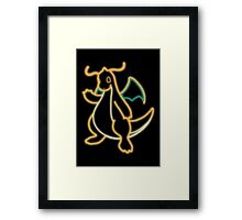 Neon Dragonite Framed Print
