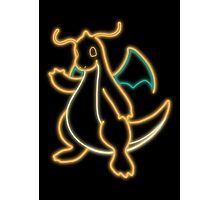 Neon Dragonite Photographic Print