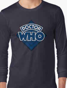 Doctor Who - Diamond Logo Flat Blue. Long Sleeve T-Shirt