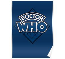 Doctor Who - Diamond Logo Flat Blue. Poster