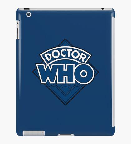 Doctor Who - Diamond Logo Flat Blue. iPad Case/Skin