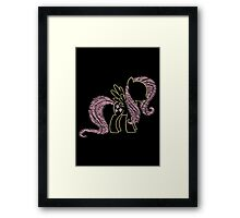 Sprayed Fluttershy Framed Print