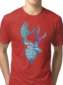 Christian Quote Deer Tri-blend T-Shirt