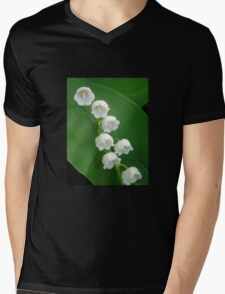 Lily of the Valley from Underneath Mens V-Neck T-Shirt