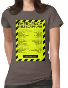 Emergency Bible Scriptures Numbers (New and Improved) Womens Fitted T-Shirt