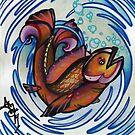 happy fish tattoo art by resonanteye
