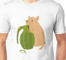 Hamster with a Handgrenade Unisex T-Shirt