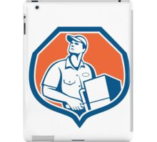 Delivery Worker Deliver Package Carton Box Retro iPad Case/Skin