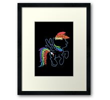 Sprayed Rainbow Dash Framed Print