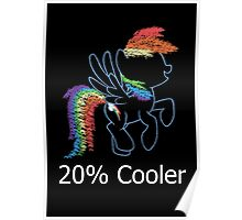 Sprayed Rainbow Dash (20% Cooler) Poster