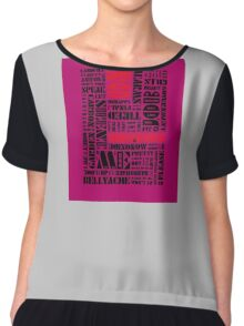 Writer*s Block • No Surprises - Colourful Women's Chiffon Top