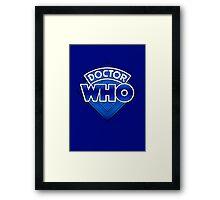 Doctor Who - Diamond Logo Blue gradient. Framed Print