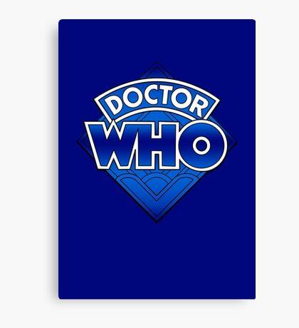 Doctor Who - Diamond Logo Blue gradient. Canvas Print