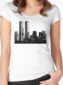 twin towers Women's Fitted Scoop T-Shirt