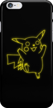 Neon Pikachu by Colossal