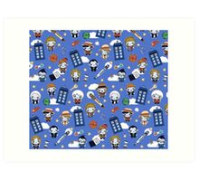 Doctor who All over Art Print