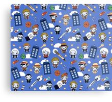 Doctor who All over Metal Print