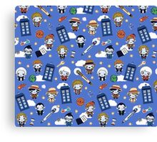 Doctor who All over Canvas Print