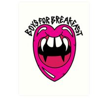 Boys For Breakfa$t Art Print