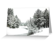 Snowy Upper Truckee River (photo b) Greeting Card