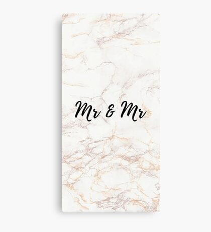 Pink Marble Effect - Mr & Mr Canvas Print