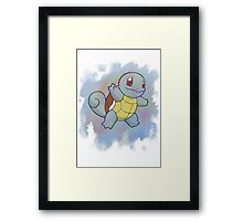 Watercolour Squirtle Framed Print