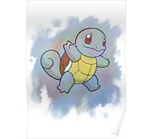 Watercolour Squirtle Poster
