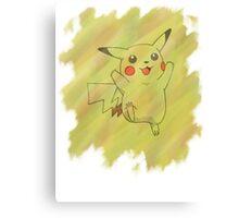 Watercolour Pikachu Canvas Print