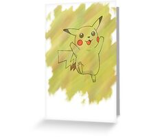 Watercolour Pikachu Greeting Card