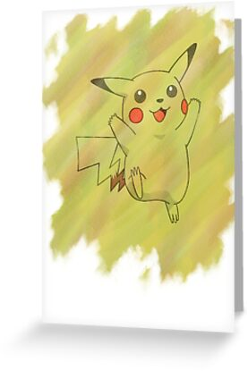 Watercolour Pikachu by Colossal