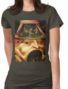 Hieronymus Bosch monster eating people Womens Fitted T-Shirt