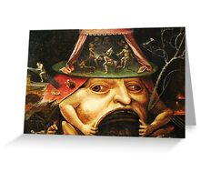 Hieronymus Bosch monster eating people Greeting Card