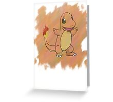 Watercolour Charmander Greeting Card