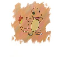 Watercolour Charmander Photographic Print
