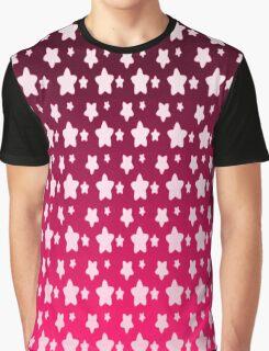 Pink Star Fantasy Gradient Pattern  Graphic T-Shirt