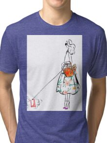 Along the Upper East Side Watercolour Illustration Tri-blend T-Shirt