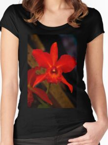 Ecuador Loves Orchids Women's Fitted Scoop T-Shirt