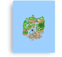 Super mario world map Canvas Print