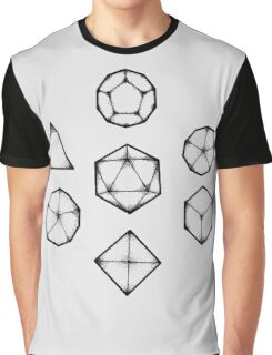 Dot Work Role Playing Dice - Black Graphic T-Shirt