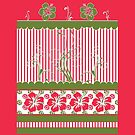 Hibiscus and Stripes by Doreen Erhardt